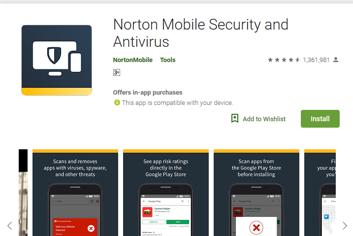 Norton Security and Antivirus - best antivirus app for android