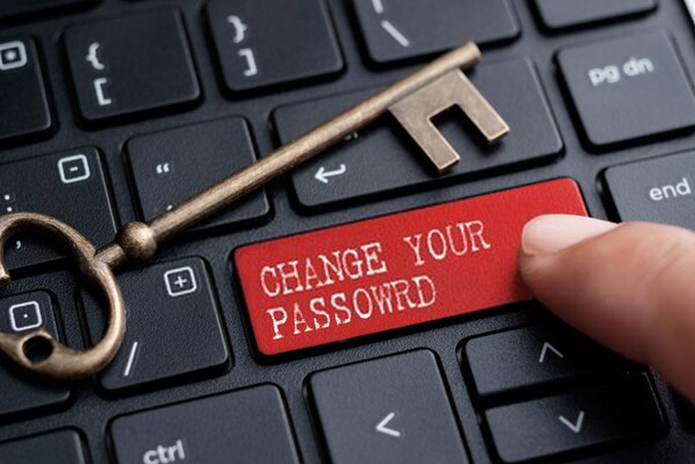 Changing passwords regularly