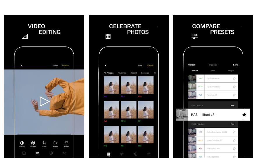 VSCO Photo and video editor app