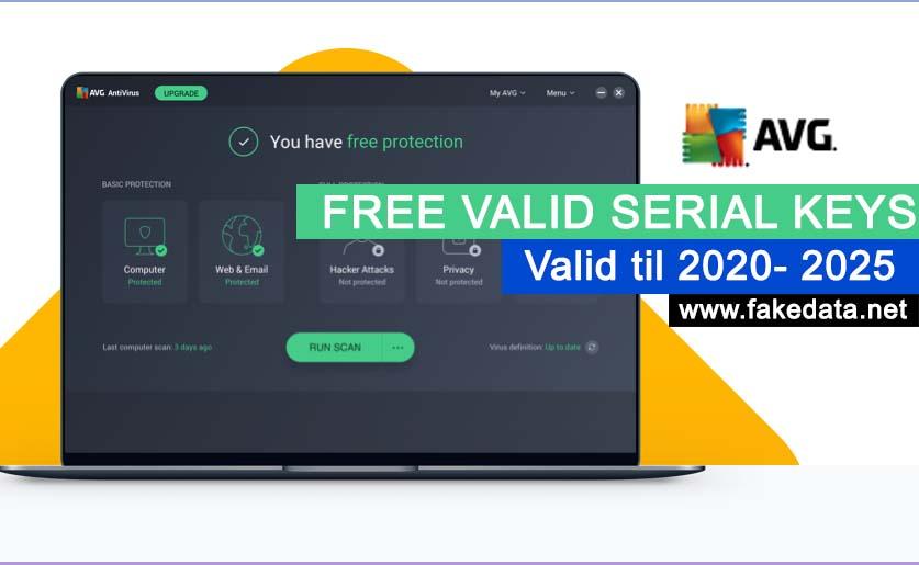 Get Free AVG Internet Security License Keys 2020 – 2025