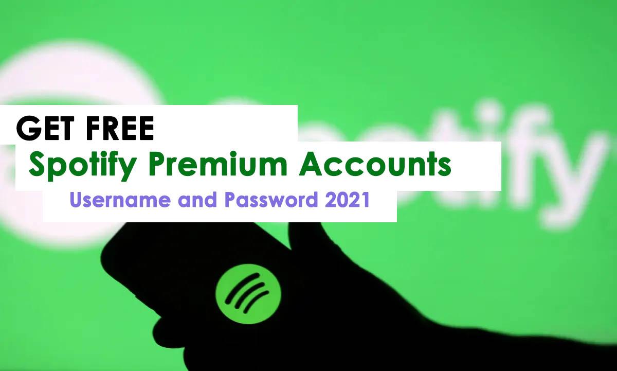 Get Working Spotify Premium Account & Password List 2021
